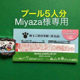 よみうりランド、プールのみ5人分、Miyaza様専用(遊園地/テーマパーク)