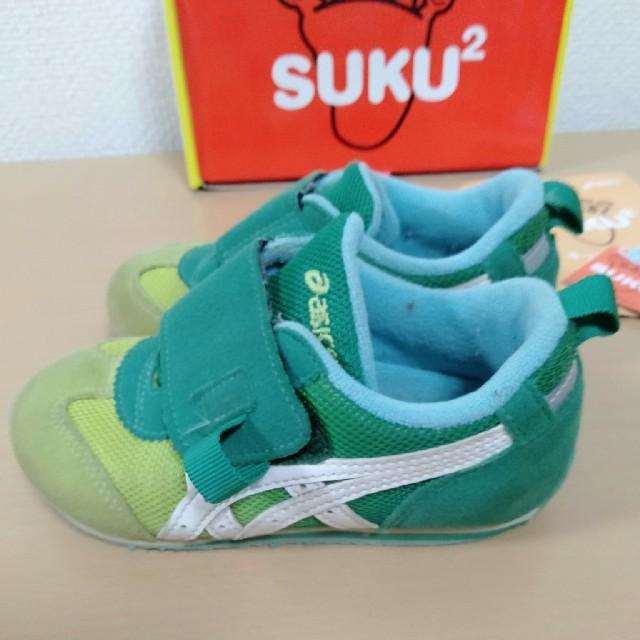asics(アシックス)の【最終!!値下げ!!】アシックス☆キッズシューズ 15.5 キッズ/ベビー/マタニティのキッズ靴/シューズ(15cm~)(スニーカー)の商品写真