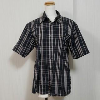 BURBERRY BLACK LABEL - バーバリーブラックレーベル 半袖シャツ メンズ チェックシャツ