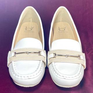 アシナガオジサン(あしながおじさん)のあしながおじさん ローファー 23cm ホワイトレザー(ローファー/革靴)