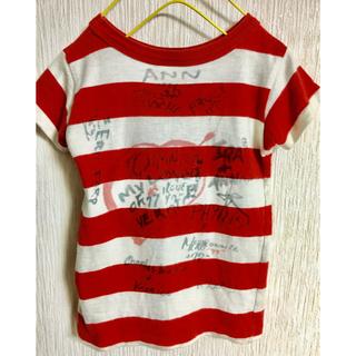 デニムダンガリー(DENIM DUNGAREE)のDENIM DUNGAREE 落書きボーダーTシャツ 100(Tシャツ/カットソー)
