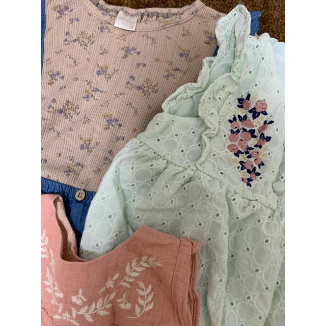 petit main(プティマイン)の70センチ まとめ売り キッズ/ベビー/マタニティのベビー服(~85cm)(ロンパース)の商品写真