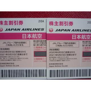 JAL 日本航空 株主優待券 2枚セット【送料無料】