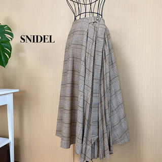 スナイデル(snidel)のSNIDEL  スナイデル チェックプリーツスカート(ロングスカート)