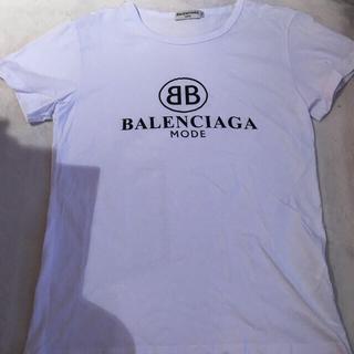 バレンシアガ(Balenciaga)のBALENCIAGATシャツ白1枚黒1枚中古(Tシャツ(半袖/袖なし))