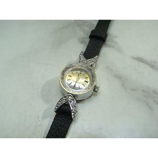 オメガ(OMEGA)のヴィンテージ オメガ OMEGA K18WG&ダイヤベゼル カクテル ウォッチ(腕時計)