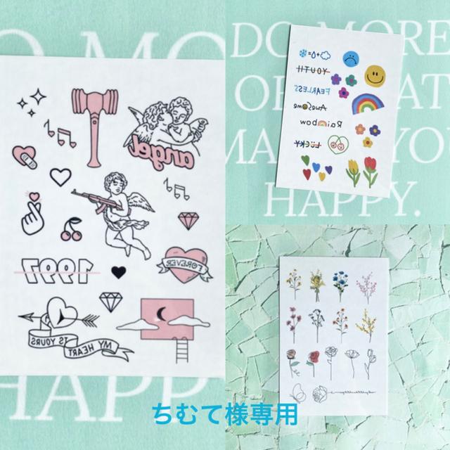 ちむて様専用 タトゥーシール 韓国 レディースのアクセサリー(その他)の商品写真