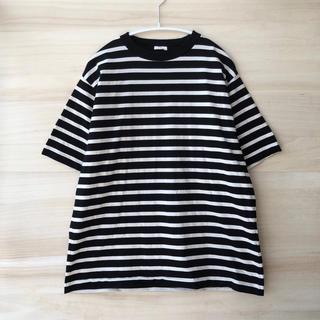 コモリ(COMOLI)の17ss comoli コットンボーダー半袖クルー サイズ2(Tシャツ/カットソー(半袖/袖なし))