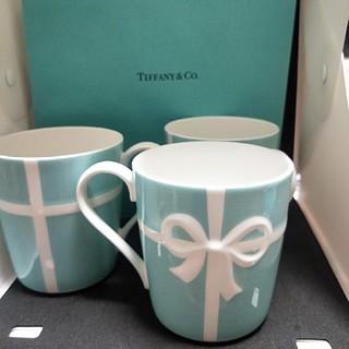 ティファニー(Tiffany & Co.)のまさ様 専用出品 ティファニー ブルーリボンマグカップ 3個(食器)