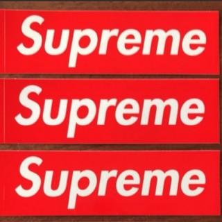 シュプリーム(Supreme)のSupreme Box Logoステッカー 3枚組 (赤)(その他)