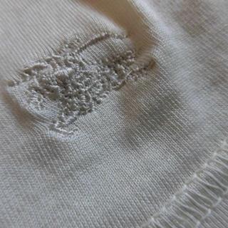 バーバリー(BURBERRY)のBURBERRY London ノースリーブ トップス ★ロゴ刺繍  M(Tシャツ(半袖/袖なし))