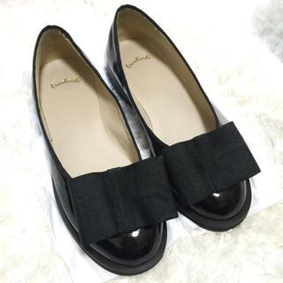 ミスティック(mystic)のomekashi リボンエナメルシューズ(ローファー/革靴)