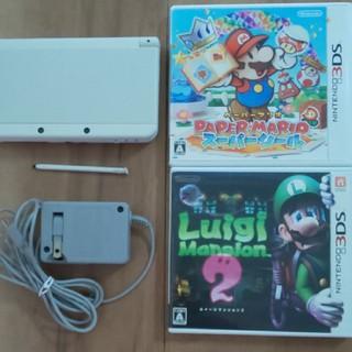 ニンテンドー3DS - 【3DS】 Newニンテンドー3DS ホワイト とソフト2本セット