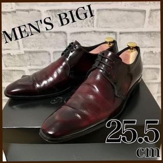 MEN'S BIGI - メンズビギ ドレスシューズ ワインレッド メンズ 牛革 革靴 S 箱付