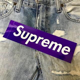 シュプリーム(Supreme)のSupreme ステッカー 紫赤1枚 正規品【色指定可能】(その他)