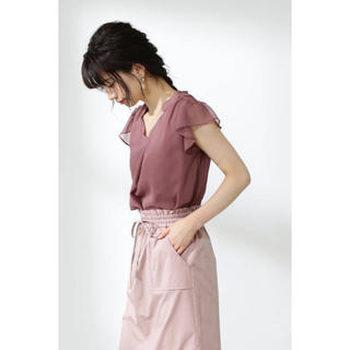 PROPORTION BODY DRESSING - PROPORTION BODY DRESSING スタンドカラー肩フリルブラウス