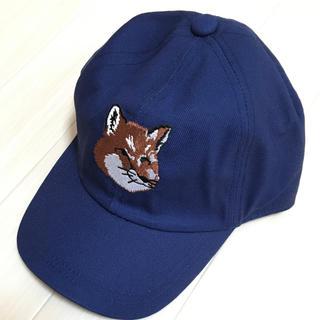 メゾンキツネ(MAISON KITSUNE')の新品 メゾンキツネ ネイビー キャップ 帽子(キャップ)