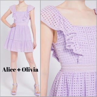 Alice+Olivia - ❤️ ★Alice olive2020新作 新品  紫ワンピース 2 色大人気