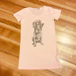 スコットクラブ(SCOT CLUB)のSCOT  CLUB 犬柄 ロングTシャツ(Tシャツ(半袖/袖なし))