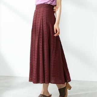 プロポーションボディドレッシング(PROPORTION BODY DRESSING)のPROPORTION BODY DRESSING レースロングフレアスカート(ロングスカート)