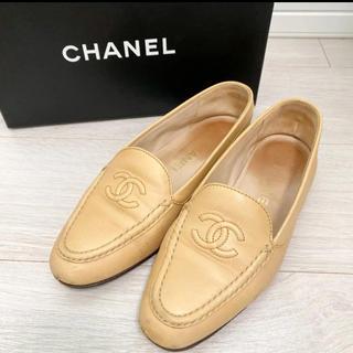 CHANEL - CHANEL シャネル 24.0 本革 イタリア製 ベージュ パンプス 革靴