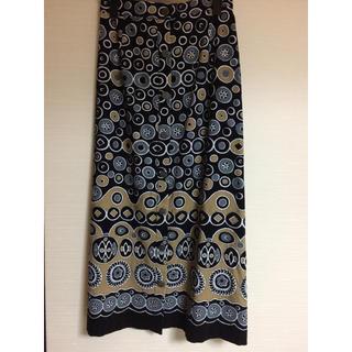 グレースコンチネンタル(GRACE CONTINENTAL)の美品 グレースコンチネンタル プリントコーデュロイスカート(ロングスカート)