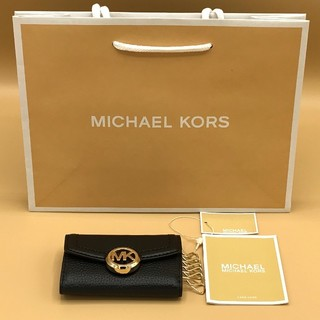 Michael Kors - 【新品未使用】Michael Kors(マイケルコース)  キーケース ブラック