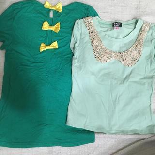 アナップキッズ(ANAP Kids)のアナップガール チュニック カットソー Tシャツ 140 150(Tシャツ/カットソー)
