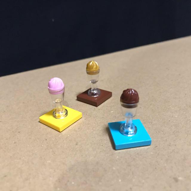 Lego(レゴ)のLEGO レゴフレンズ A① 食べ物 食器 アイスクリーム グラス キッズ/ベビー/マタニティのおもちゃ(知育玩具)の商品写真