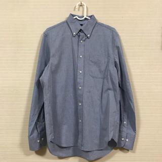 ムジルシリョウヒン(MUJI (無印良品))の無印 シャツ 長袖 青 コットン MUJI(シャツ)