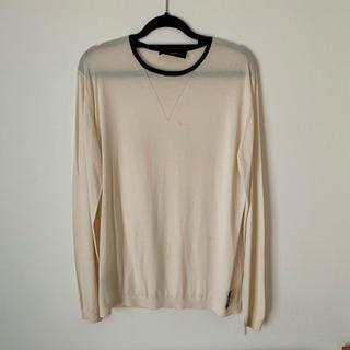 フェンディ(FENDI)のニット FENDI モノクロ シンプル セーター  メンズ 白 白ニット XL(ニット/セーター)