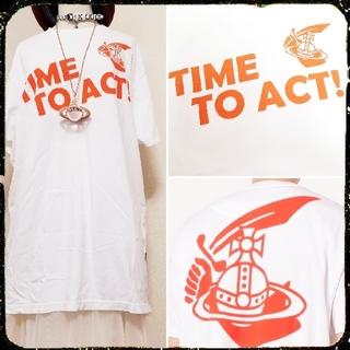 ヴィヴィアンウエストウッド(Vivienne Westwood)の新品・NEW BOXY T-SHIRT TIME TO ACT(Tシャツ/カットソー(半袖/袖なし))