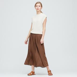 ユニクロ(UNIQLO)の美品  プリーツシフォンスカート(ロングスカート)