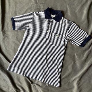 ラコステ(LACOSTE)のサイズ2 フレンチラコステ 70′s 半袖ボーダーポロシャツ ポケット付 古着(ポロシャツ)