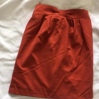 ロペピクニック(Rope' Picnic)のウエストリボンスカート(ひざ丈スカート)