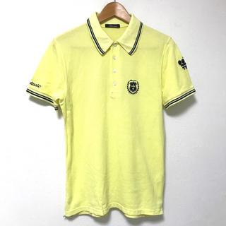 ティーエムティー(TMT)の定1.8万 TMTクラシック 鹿の子刺繍半袖ポロシャツL イエロー(ポロシャツ)