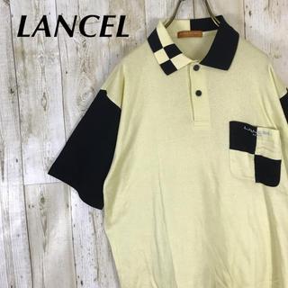 ランセル(LANCEL)のLANCEL ランセル ポロシャツ バイカラー ワンポイント刺繍ロゴ(ポロシャツ)