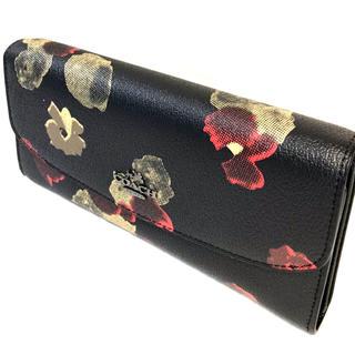 COACH - コーチ COACH長財布黒にフローラル プリントが人気の大容量タイプ