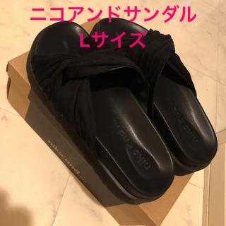 niko and... - ニコアンド サンダル Lサイズ ブラック