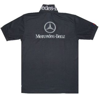 【送料無料】メルセデス・ベンツ 半袖ポロシャツ 濃灰 XXLサイズ(ポロシャツ)