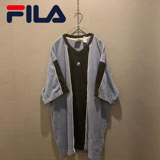 FILA - 【FILA】激レア ビッグサイズ ワンポイント 刺繍 古着 ビッグサイズ