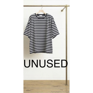 アンユーズド(UNUSED)のunused のボーダーtシャツ/US1260(Tシャツ/カットソー(七分/長袖))