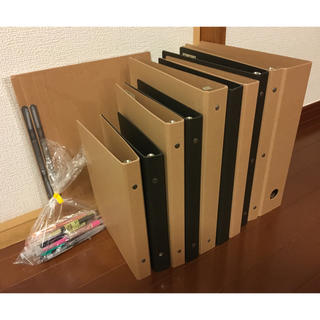 ムジルシリョウヒン(MUJI (無印良品))の無印良品 ファイル バインダー ペン まとめ売り(ファイル/バインダー)