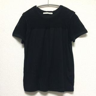 マウジー(moussy)のmoussy マウジー メッシュTシャツ ブラック 黒 トップス(Tシャツ(半袖/袖なし))