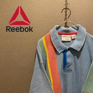 リーボック(Reebok)のビックサイズ リーボック ゆったり ビッグシルエット 古着 ポロシャツ(ポロシャツ)