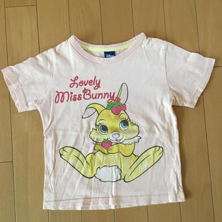 ディズニー(Disney)の半袖Tシャツ ディズニー 女の子 110 ミスバニー ピンク(Tシャツ/カットソー)