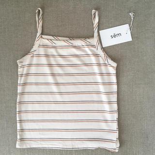 キャラメルベビー&チャイルド(Caramel baby&child )の【未使用】sem label ストライプキャミソール 6y(Tシャツ/カットソー)