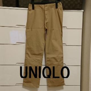 ユニクロ(UNIQLO)の★格安 UNIQLO(ユニクロ)ページュパンツ★(クロップドパンツ)