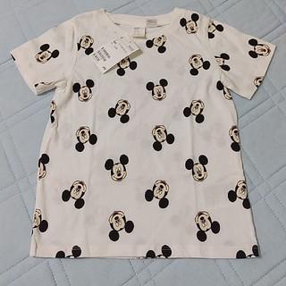 エイチアンドエム(H&M)のH&M ミッキー総柄 半袖Tシャツ 100(Tシャツ/カットソー)