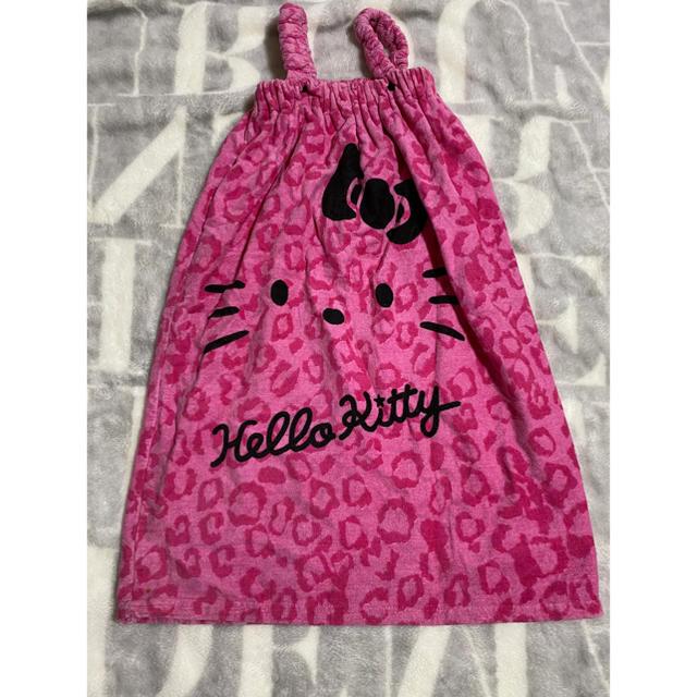 ハローキティ(ハローキティ)のHELLO KITTY/着れるバスタオル インテリア/住まい/日用品の日用品/生活雑貨/旅行(タオル/バス用品)の商品写真